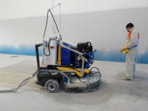macchina levigatura pavimento cemento