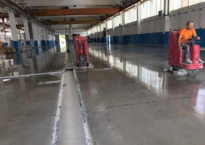 lucidatura pavimento cemento  Socage modena