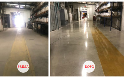 Grinding and polishing service on concrete floor – Venice, Italy