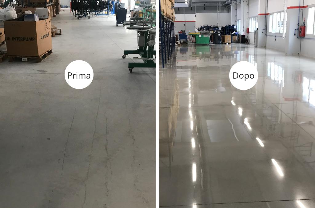 Levigatura e lucidatura pavimento in cemento – Brescia