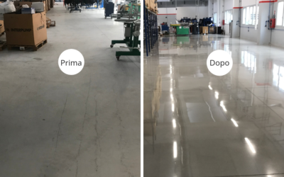 Grinding and polishing service on concrete floor – Brescia, Italy