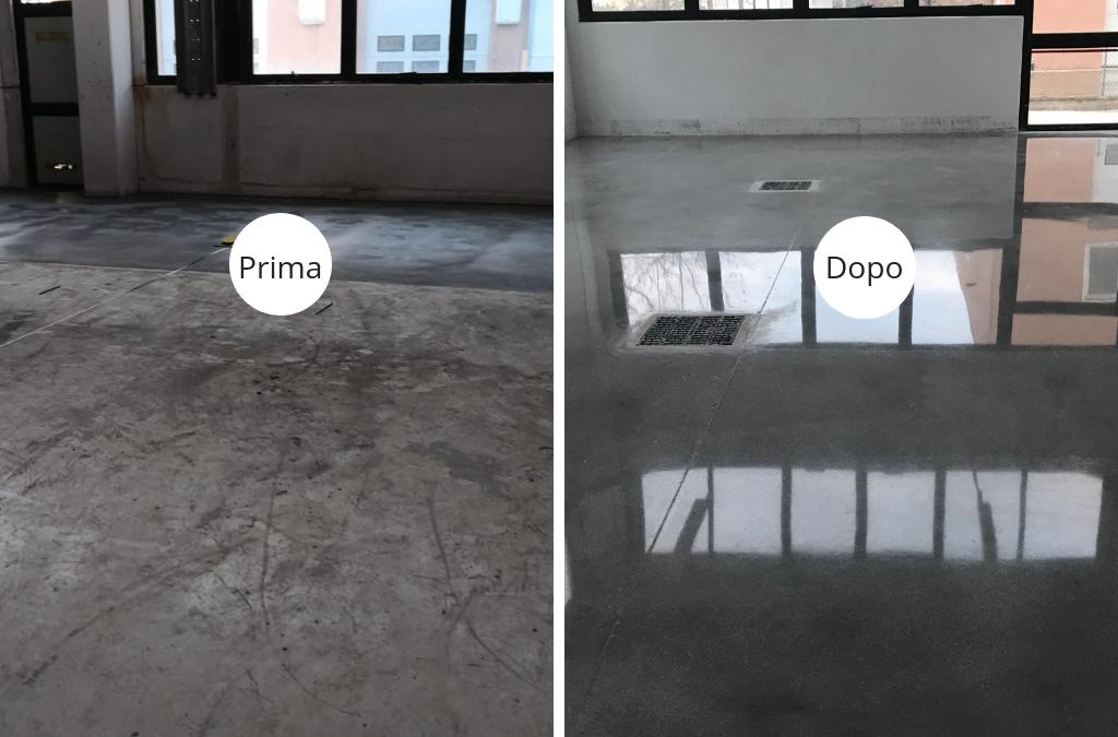 Levigatura e lucidatura pavimento in cemento a Bergamo